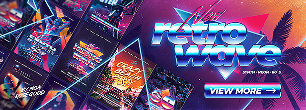 80`s Retro Text Effects vol.4 Synthwave Retrowave - 40